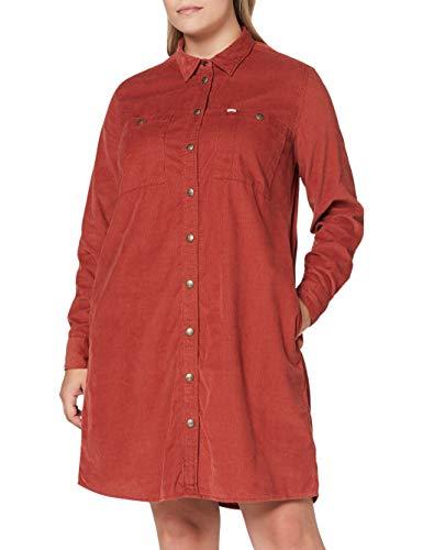 Lee Womens Workshirt Casual Dress, RED Ochre, XL