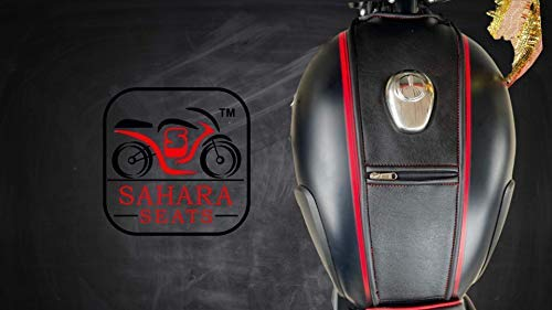 Sahara Seats Royal Enfield Classic 350/500 Leather Finish Tank Strap/Tank Cover.