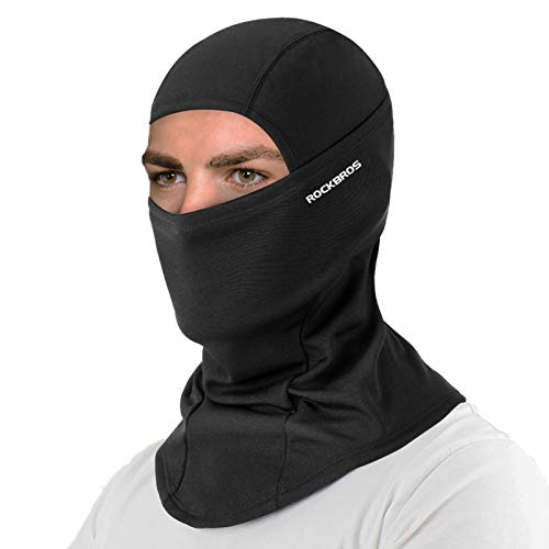 ROCK BROS Cold Weather Balaclava Ski Mask for Men Windproof Thermal Winter Scarf Mask Women Neck Warmer Hood for Cycling Motorcycle Running Skiing Snowboarding Black