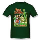 ZYYM Don't Talk To Strangers Men's Basic Short Sleeve T-Shirt Forest Green 3X-Large