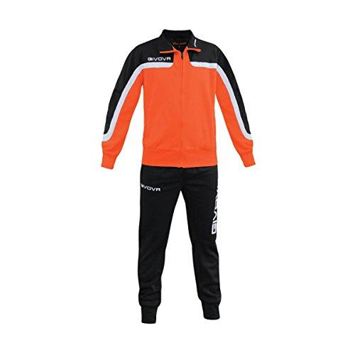 Givova trainingspak Afrika neon oranje/zwart, S