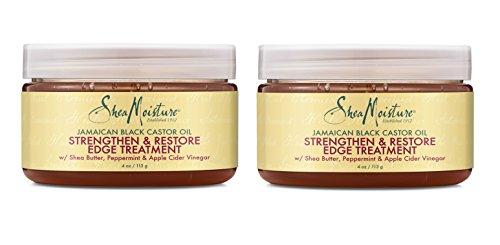 Shea Moisture Jamaican Black Castor Oil Strengthen & Restore Edge Treatment, 4 Oz, Pack of 2