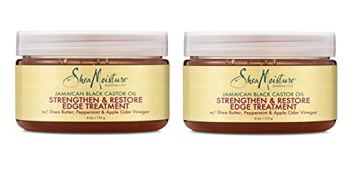 Shea Moisture Jamaican Black Castor Oil Strengthen & Restore Edge Treatment, 4 Oz, Pack of 2