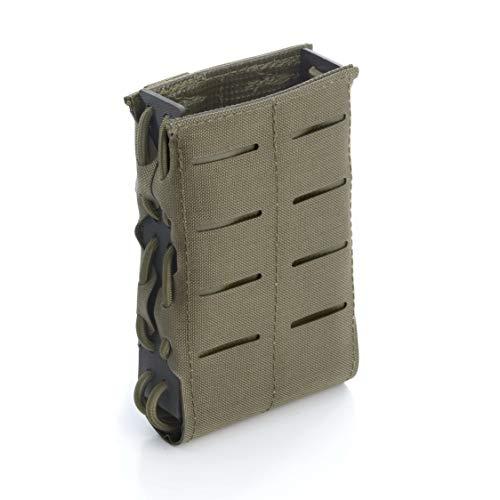 Zentauron Molle Magazin Schnellziehtasche78,5 x 12 x 2,5 I Schnellziehtasche LC für M4 Magazin aus hochwertigem Cordura® & Kydex® I Strapazierfähige Militär-Tasche I Tasche in Steingrau-Oliv