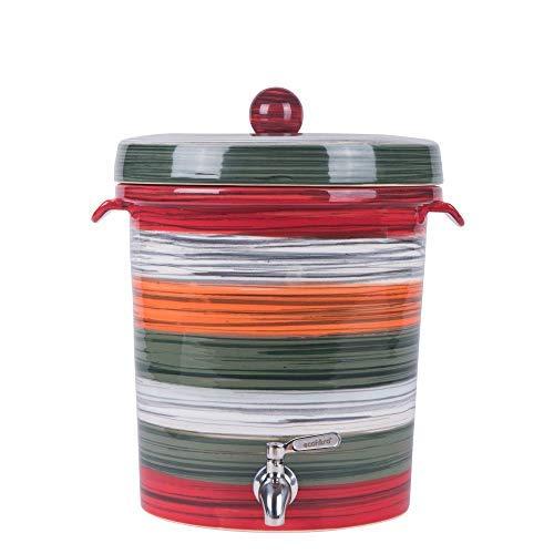 Ecofiltro Purificador y Dispensador de Agua Cerámica Mediano (8 L) Colores Rayado