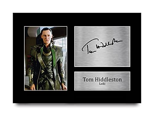 HWC Trading A4 Tom Hiddleston Loki Regalo Vengadores Loki El Impresos Autógrafos De Imagen para Los Fans De La Televisión Autografiada - A4