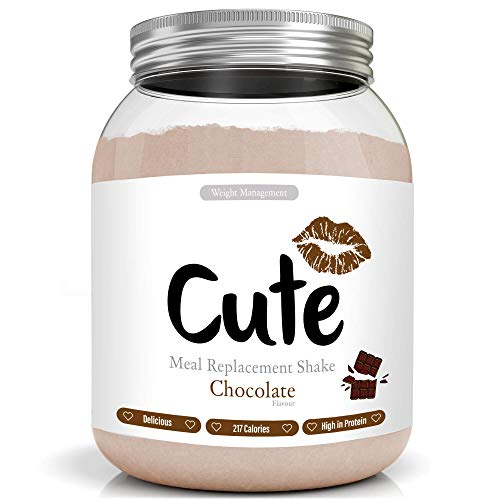 Cute Nutrition Chocolate Meal Replacement Shakes for Shakes for Weight Loss Control Diet Shake for Women 500g tub with Bonus 4 Week Fat Buster Workout Plan
