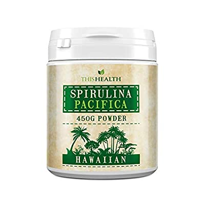 Premium Hawaiian Spirulina Powder 450g – High Potency Spirulina Pacifica Powder to Boost Immune System and Improve Eye and Brain Health – Spirulina Supplement Containing Over 100 Vitamins and Minerals – 450g by ThisHealth