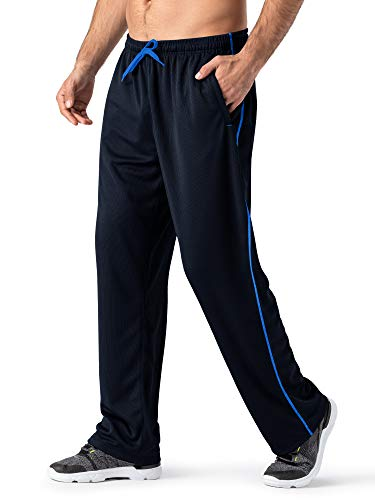 MAGNIVIT Men's Hip Hop Loose Fit Track Pants - Athletic Jogger Bottom with Elastic Waist Blue