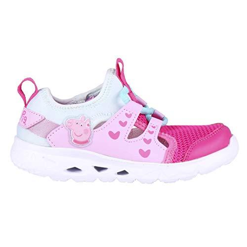 CERDÁ LIFE'S LITTLE MOMENTS Peppa Pig Fille | Basket Enfant Respirante-Licence Officielle Nickelodeon, Rose, 23 EU