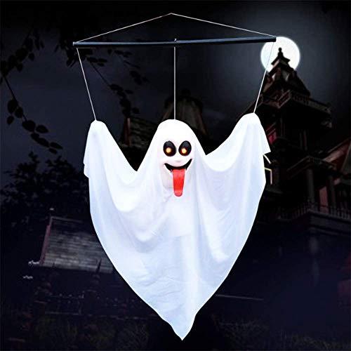 QHWJ Fantasma di Halloween, Controllo vocale Induzione Fantasma Bianco Lingua Rossa Simulazione Uomo Spaventoso Decorazione Puntelli, Bar stregato Bar KTV Festeggiamento Festa in Costume