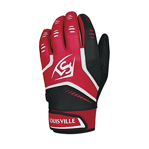 Louisville Slugger Omaha Youth Batting Gloves - Youth Large, Scarlet