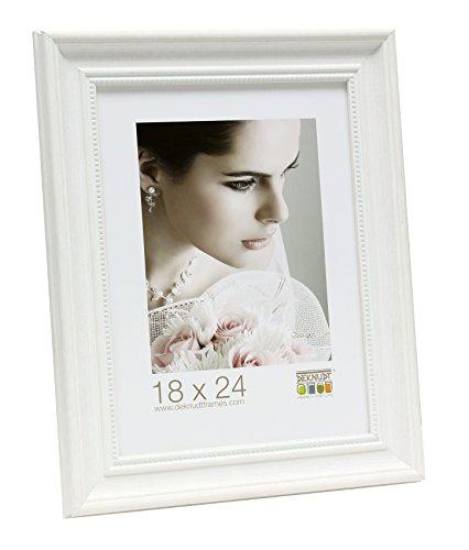 Fotolijst 20x30 kunststof wit fotolijst wit geschilderd met parelrand Prijs per stuk