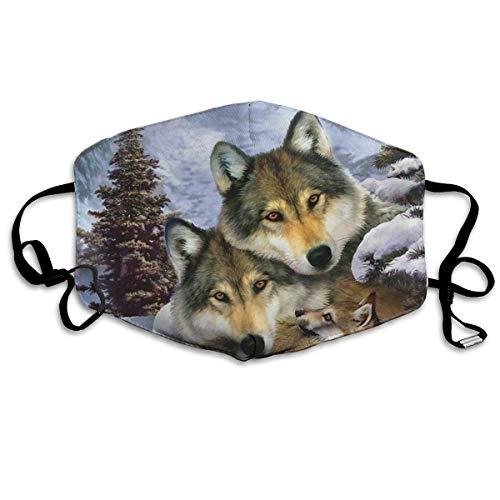 Multifunktionale Gesichtsschutzhülle,Alaska Wolf Hundefamilie Gedruckt Unisex Waschbar Wiederverwendbare Gesichtsdekorationen Für Den Persönlichen Schutz