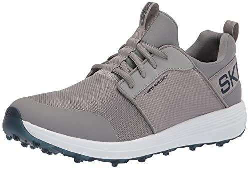 Skechers Max Shoe, Chaussure de Golf Homme, Anthracite, Bleu Sport, 45.5 EU