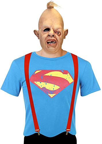 ASVP Shop Adults Goonies Sloth Costume Including Mask, Red Braces and Superman T-Shirt (3XL)