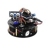 HARTI Kit de montaje de robot inteligente de tortuga para Arduino con tutorial de juguete electrónico/soporte Android control IR de Android, kit de montaje de robot inteligente para adultos