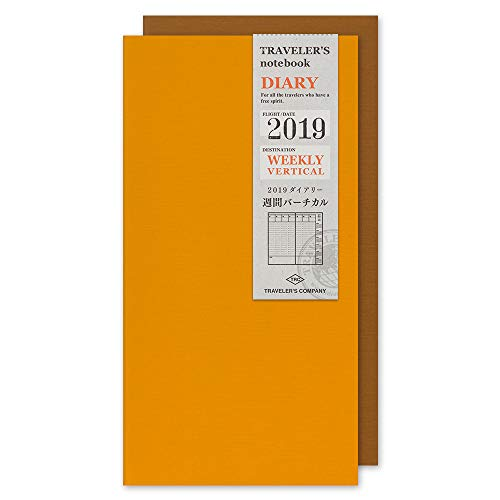 Traveler's Notebook 2019 Weekly Vertical Diary Regular Size - Refill agenda settimanale