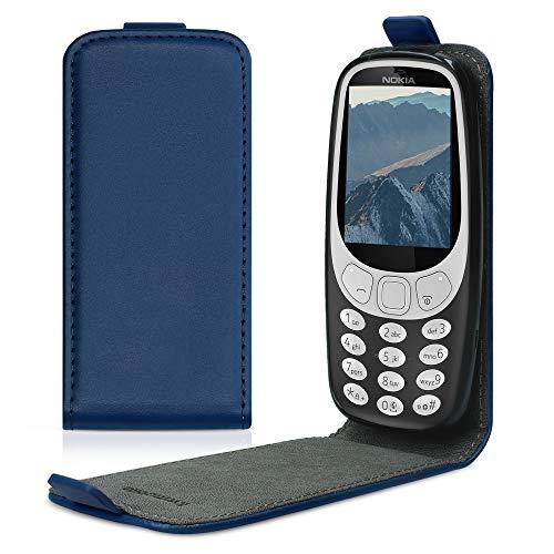 kwmobile Schutzhülle kompatibel mit Nokia 3310 3G 2017 / 4G 2018 - Hülle Handy - Flip Hülle Handyhülle Dunkelblau