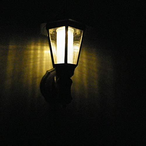 No-branded PDHCC Wireless Waterproof Wall Night Solar Wall Lights Single Head Outdoor Lights Retro Lantern For Garden Door Patio Yard Solar Light (Color : Warm white, Size : One Size)