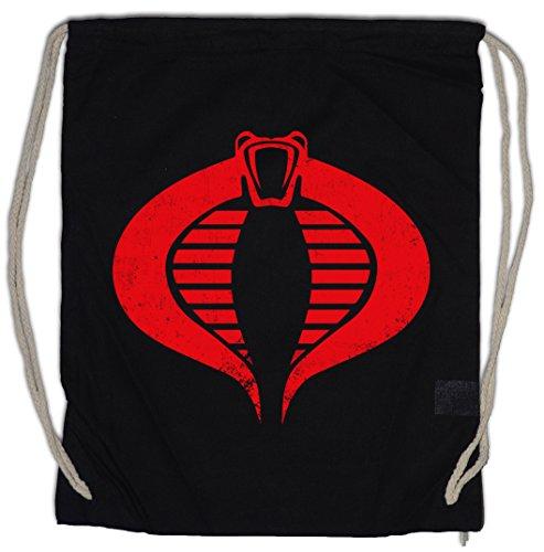 Urban Backwoods Cobra Logo Bolsa de Cuerdas con Cordón Gimnasio Commander Symbol Destro GI Joe Action Force Movie Fun Shirt