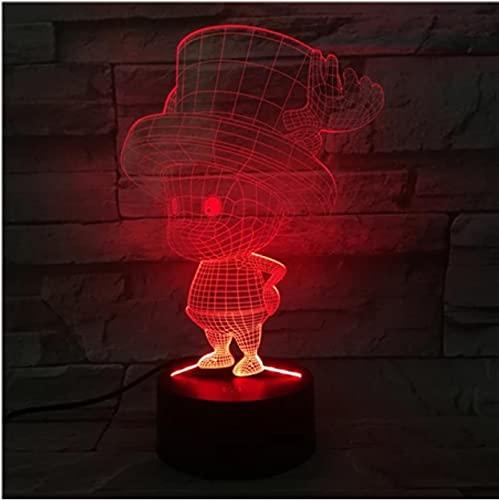 Cute Boy 3D Light Led 7 colores Cambiar juguete Cable USB Interruptor táctil Mesa Drcor Regalos de Navidad Niños Pasatiempos