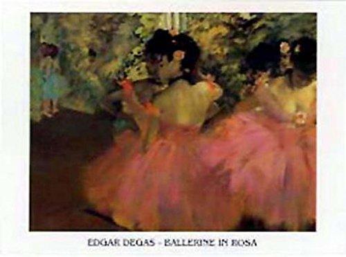 1art1 Edgar Degas - Ballerine in Rosa Stampa d'Arte (70 x 50cm)
