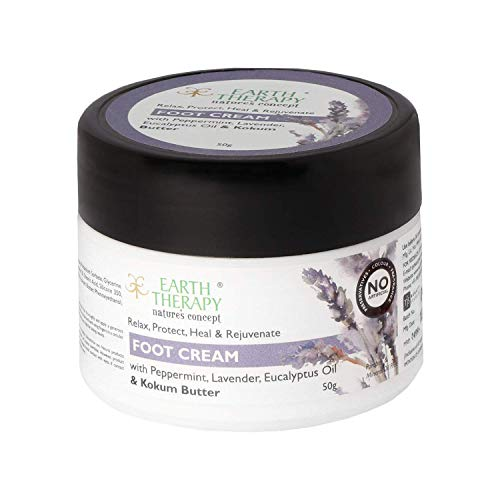 EARTH THERAPY Foot Cream For Cracked Heels, Dry Skin, Feet Repair, Knee Brightening Whitening Hydration & ULTRA HEALING For Women & Men,50GM