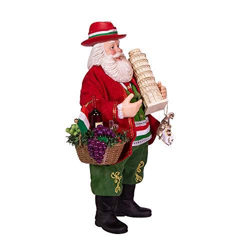 Kurt S. Adler 11-Inch Fabriché Musical Italian Santa, Multi