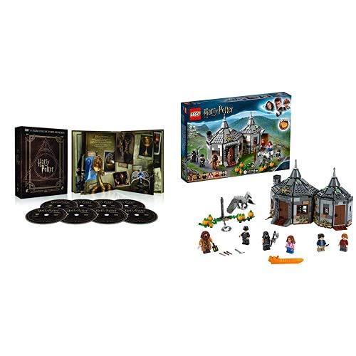 Harry Potter Magical Collection (8 DVD) - Cofanetto, Edizione Digibook (32 pagine) + LEGO- Harry Potter La Capanna di Hagrid: Il Salvataggio di Fierobecco Set di Costruzioni, con 6 Minifigure, 75947