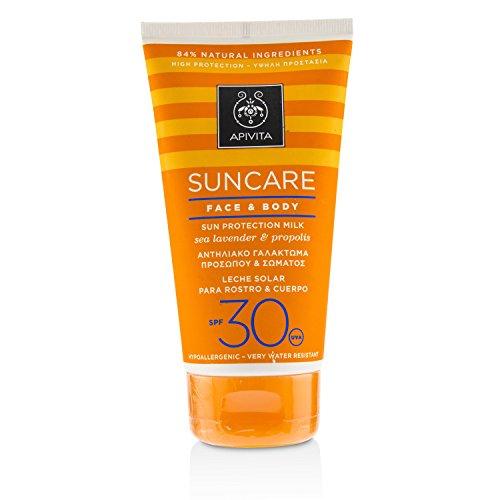 Apivita Sunscreen Face & Body Milk SPF30 with Sea Lavender & Propolis 150ml