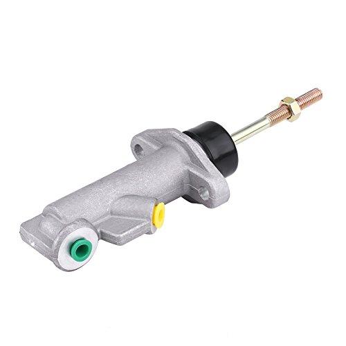 Aramox Cilindro maestro de freno de aleación de aluminio, cilindro maestro de embrague de freno de coche 0,75 agujero remoto para freno de mano