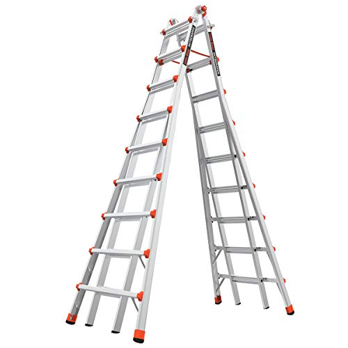 Little Giant Ladders SkyScraper M17 917 Foot Stepladder Aluminum Type 1A 300 lbs Weight Rating 10110
