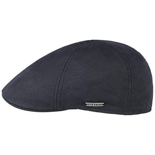Stetson Texas Cotton-Mix Flatcap Schirmmütze Baumwollcap Sommercap Schiebermütze Herren - Made in The EU mit Schirm, Futter, Futter Frühling-Sommer - M (56-57 cm) dunkelblau