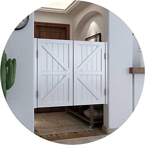 RTSFKFS Interior Doors Swinging Cafe Doors Retro Half Waist Door Indoor Decoration Bar Door Entrance Use, Size Customizable, Saloon Doors Fits Any 80-120 cm Door Opening Sizes Home Accessories
