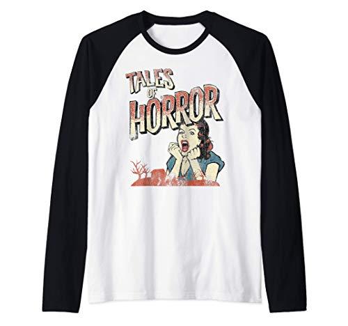 Affiche de film d'horreur vintage drôle d'Halloween Manche Raglan