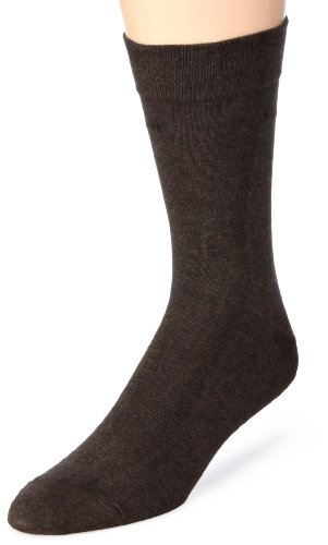 bugatti Herren Socken 6702 / bugatti smooth cotton basic, Gr. 43-46, Braun (mottled brown 180) 2pack