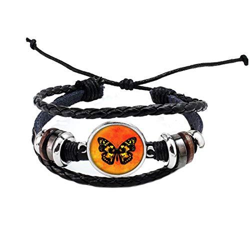 Hermoso brazalete de mariposa monarca,brazalete monarca,joyería de la naturaleza,hermosa naturaleza brazalete # 199
