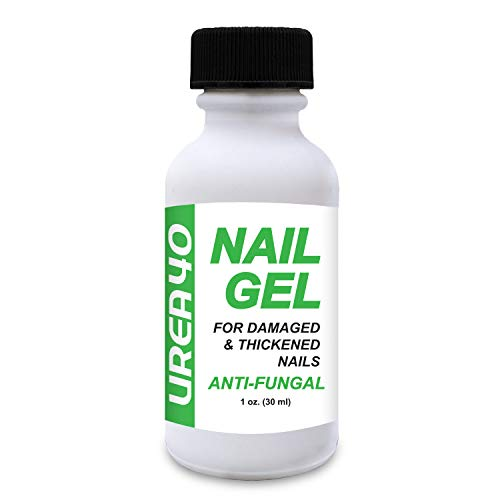 Urea Nail Gel, 1 oz, 40% Urea, Hard Nail Softener, Quick Drying, Anti-Fungal, For Soft and Brittle Free Nails, For Fingernails & Toenails, Superior to Creams, Easy Brush Applicator, Quick-Drying