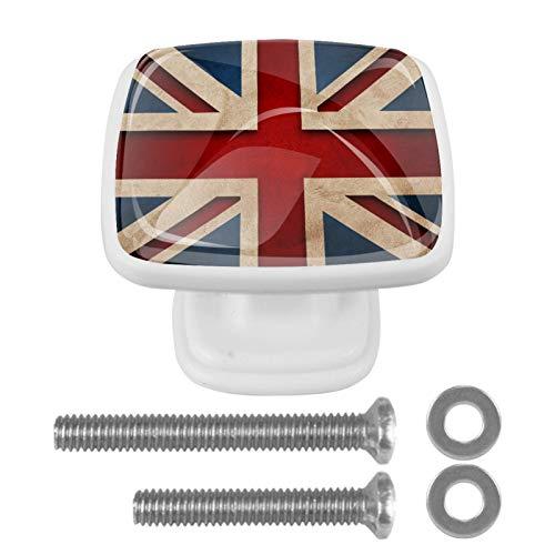 Cassetto Manopole Tira Maniglia Armadio Ferramenta Cassettiera in vetro Cassetti Porta Armadio per ufficio in casa Cucina Armadio Inghilterra Londra Union Jack Cool