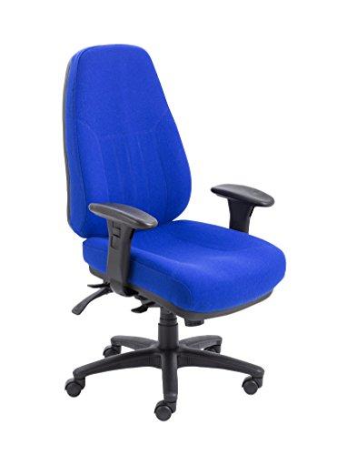 Office Hippo Robuster orthopädischer Bürosessel XL, Textil, blau, 65.5x63.5x105.5 cm