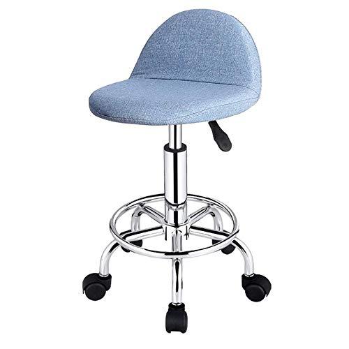 jiyy 360° vrije rotatie hoge stoel, in hoogte verstelbare draaibare barkruk, vrije tijd bar stoel op wielen, voor woonkamers, keukens, restaurants, cafés, bars