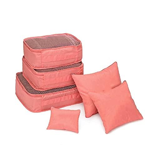 LWLLBH Bolsa de Almacenamiento de Viaje de 6 Piezas Set para Ropa para Ropa de Almacenamiento ordenado Bolsa de Maleta Bolsa de Almacenamiento de Viaje Zapato de Cuero Packaging Bag