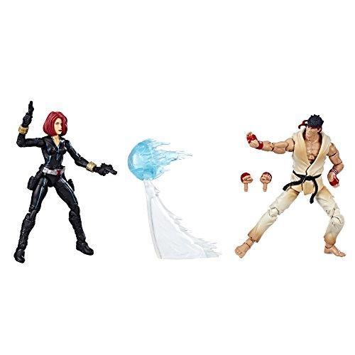 Marvel Gamerverse Marvel vs. Capcom Black Widow vs. Ryu 3 3/4-Inch Action Figure 2-Pack