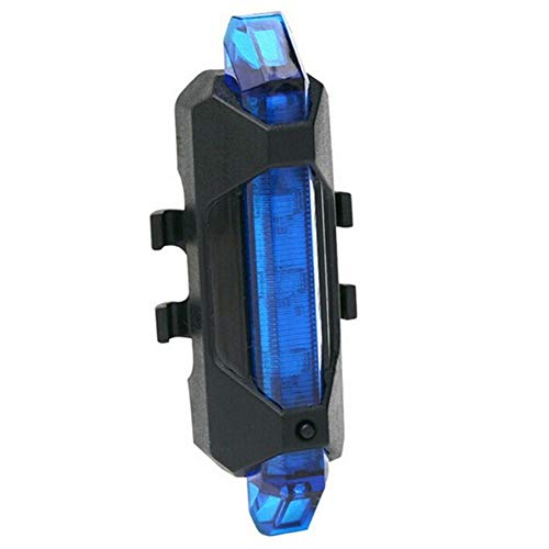 Frieed Recargable portátil for Bicicleta luz Trasera LED luz Trasera Trasera Advertencia de Seguridad Durable (Color : Blue)