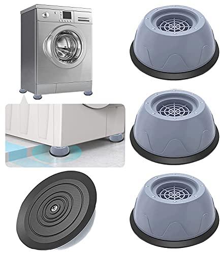 Almohadillas para Pies de Lavadoras | Universal Patas antivibracion lavadora - 4 Piezas Soporte de Goma Antivibración - Amortiguador de Vibraciones para Lavadoras Almohadilla de Goma para Lavadoras