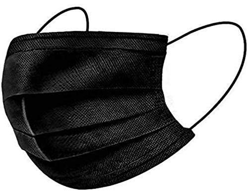 Negro Cómodo Transpirable una Protección de Tres Capas, 20 unidades, Unisex.