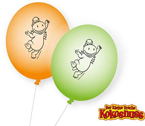 DH-Konzept: 8 Luftballons * DER KLEINE Drache Kokosnuss * fals Deko ür Kinderparty und Kindergeburtstag | Kinder Ballons Party Set