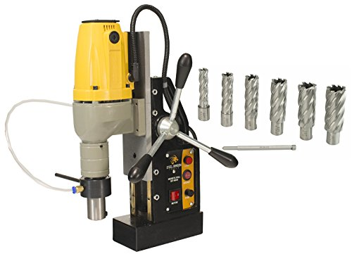 Lowest Price! Steel Dragon Tools MD40 Magnetic Drill Press with 7pc 2in. HSS Annular Cutter Kit