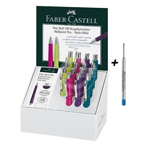 Faber Castell Bolígrafo de Esfera de Colores Surtidos-Expositor de 15 Unidades-La, Multicolor (4005402411184)